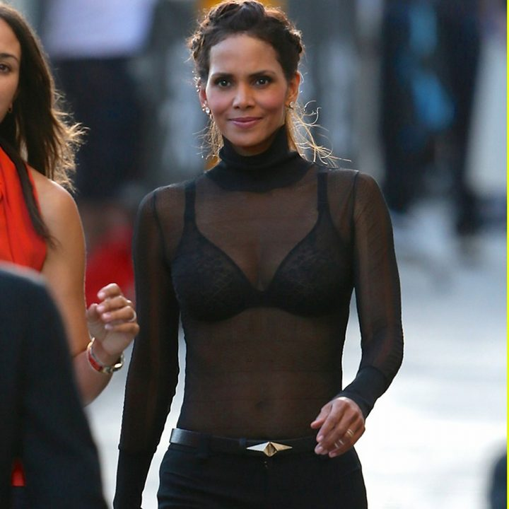 Halle Berry leaving ABC studios after Jimmy Kimmel Live