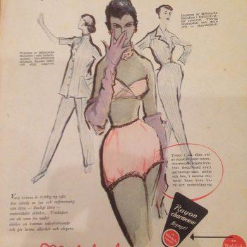Vintage reklam underkläder från 1951